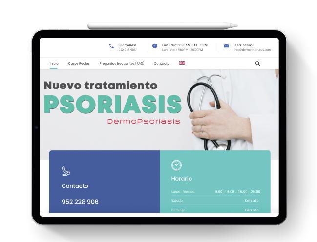 Pagina web Dermopsoriasis